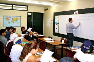 Students learning English in the USA