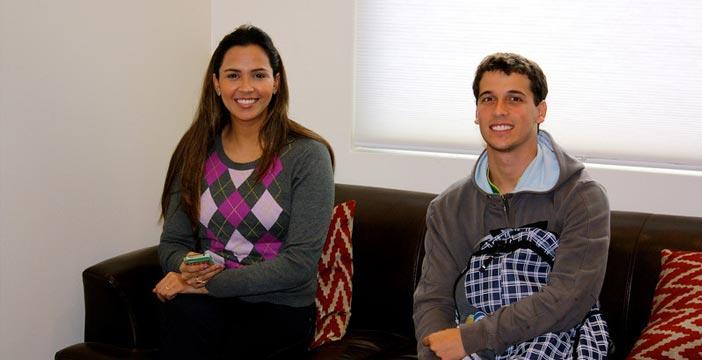 Students in Lounge English Language Training Houston